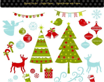 Christmas Tree clipart banner Bunting download clip tree clipart
