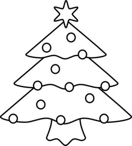 Christmas Tree clipart black and white Art Art online Christmas Clip