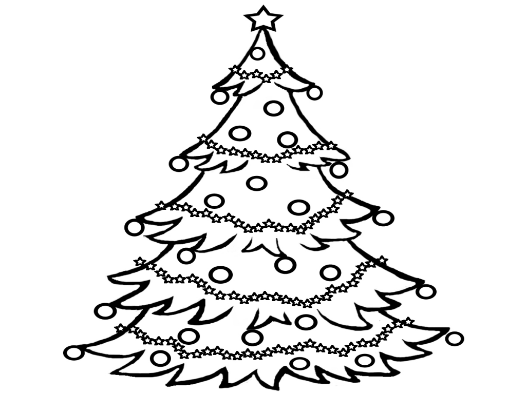 Christmas Tree clipart black and white Christmas Black white white and