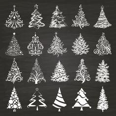 Christmas Tree clipart chalkboard 2014 on 03 Trees Xmas