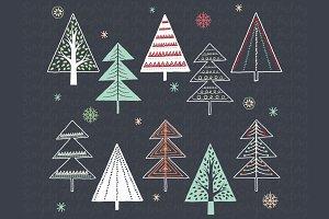 Christmas Tree clipart chalkboard Themes Fonts tree christmas Photos