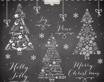 Christmas Tree clipart chalkboard Christmas Lettering chalkboard christmas chalkboard
