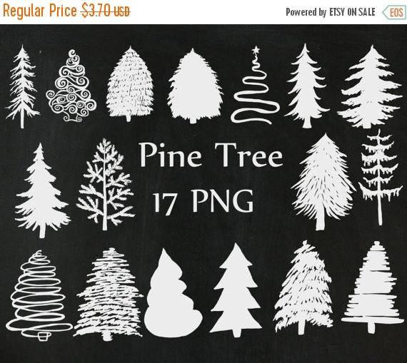 Christmas Tree clipart chalkboard Xmas 40%SALE Elements