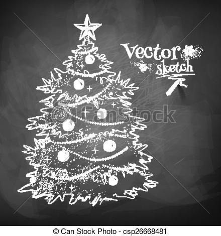 Christmas Tree clipart chalkboard Christmas of Christmas of Chalkboard