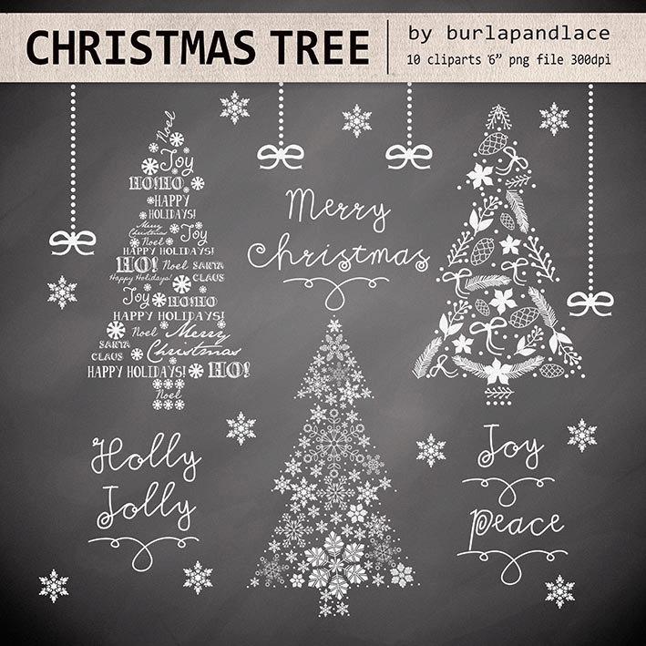 Christmas Tree clipart chalkboard Clipart  christmas clipart christmas