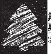 Christmas Tree clipart chalkboard Stock drawing drawing chalk christmas