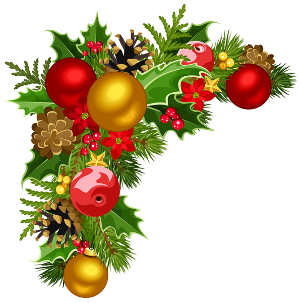 Background clipart christmas decoration Clipart Tree Deco Tree Corner