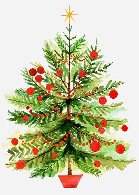 Classic clipart christmas tree With on Art: Berg Berries