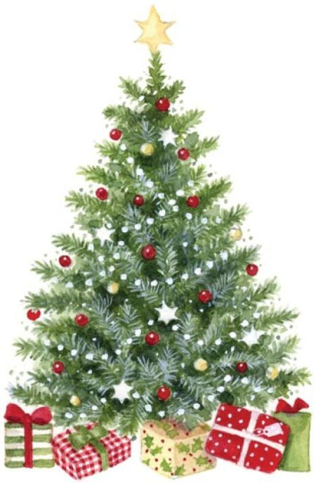 Classic clipart christmas tree Digital Pinterest Clip Pin this