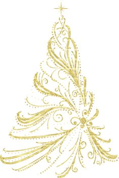 Christmas Tree clipart classy Clipart Christmas Golden Clipart Outline