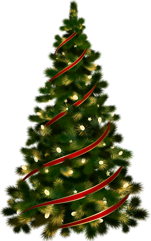 Christmas Tree clipart clear background For Tree with Clipart Large