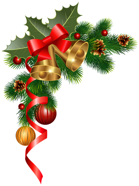 Pine Cone clipart corner PNG Christmas Clipart New Christmas