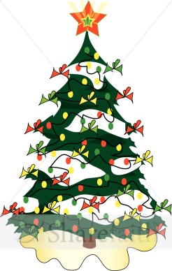 Winter clipart christmas tree Christmas Clipart Tree  Cute