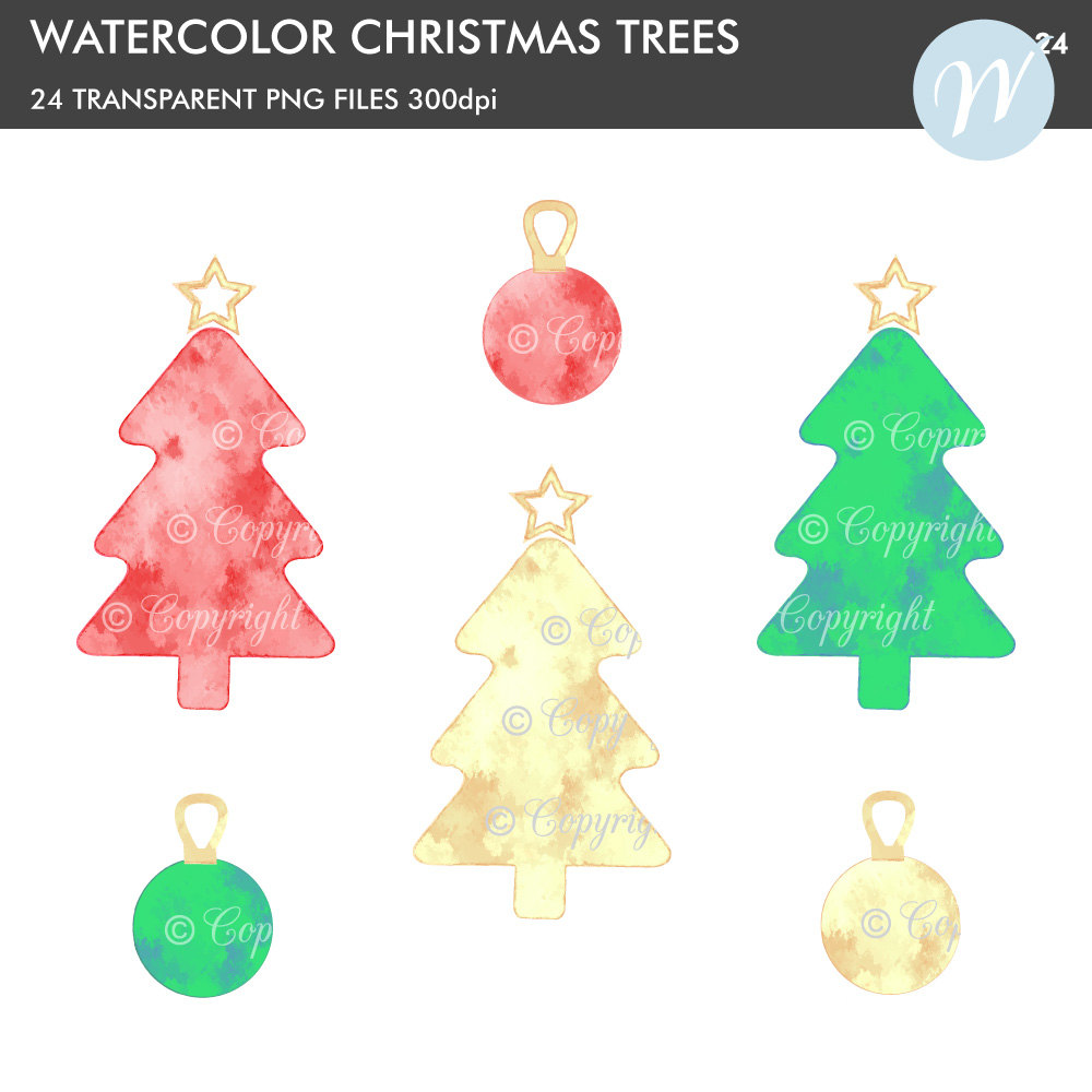 Christmas Tree clipart decorative Metallic Christmas file This digital