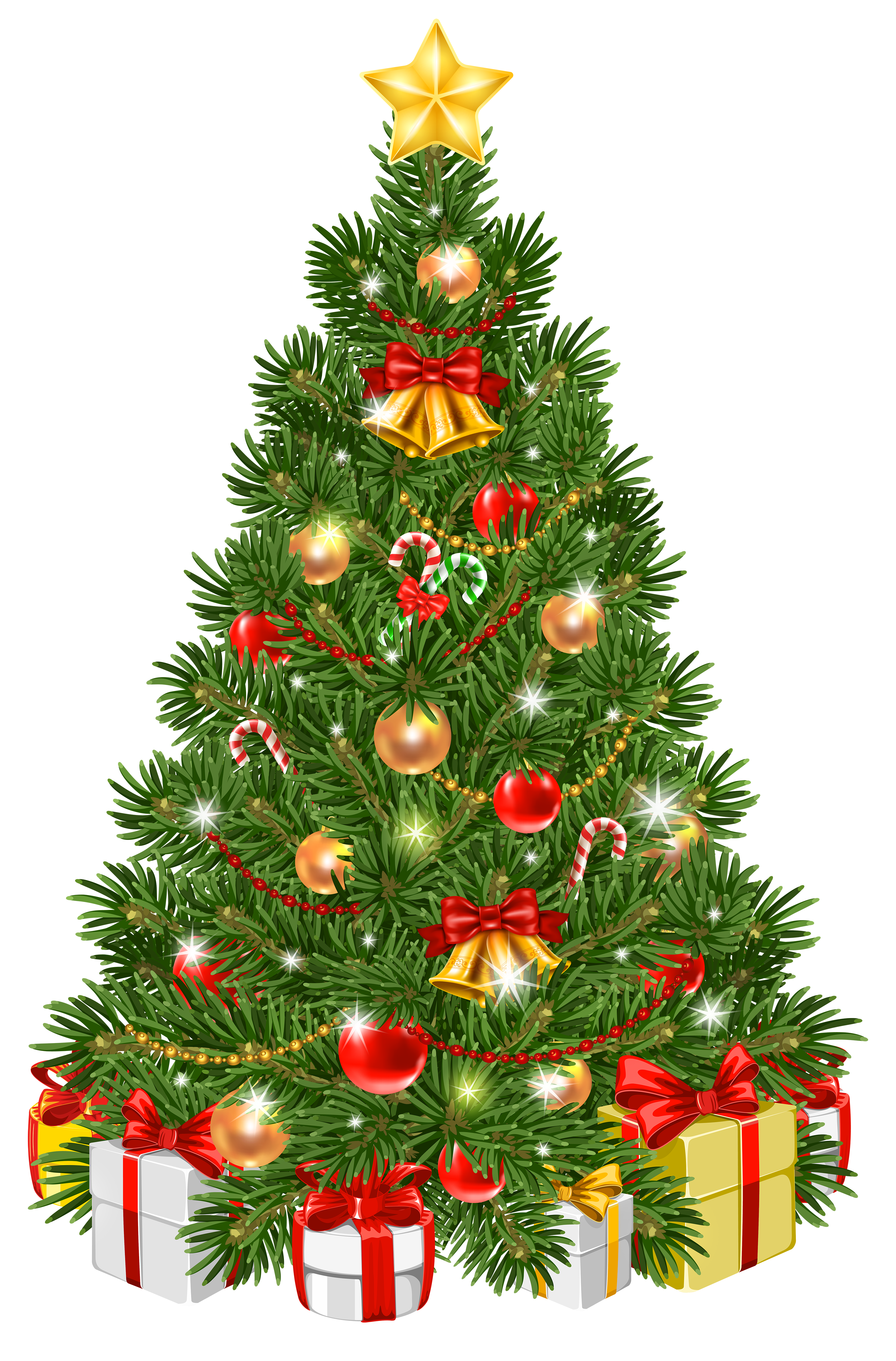 Christmas Tree clipart decorative Art Transparent Christmas View Decorated