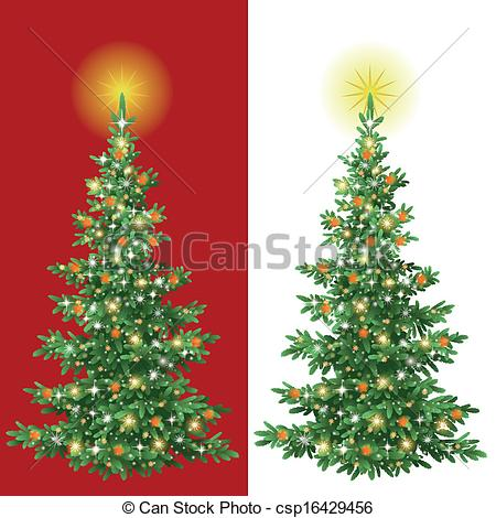 Christmas Tree clipart decorative Tree Vector csp16429456 Christmas decorations