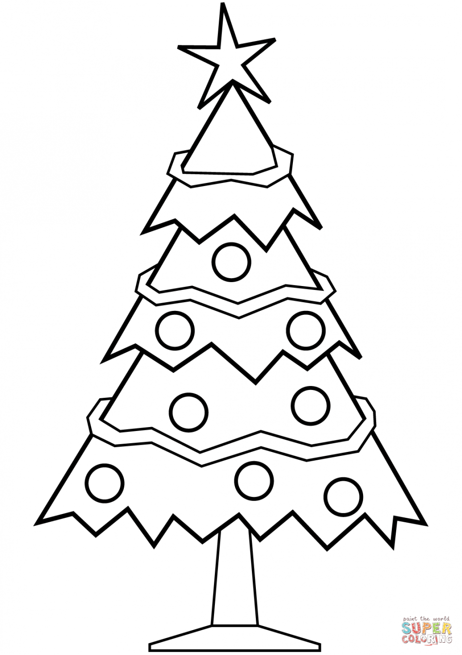 Christmas Tree clipart easy Pages Pages Christmas Christmas Easy