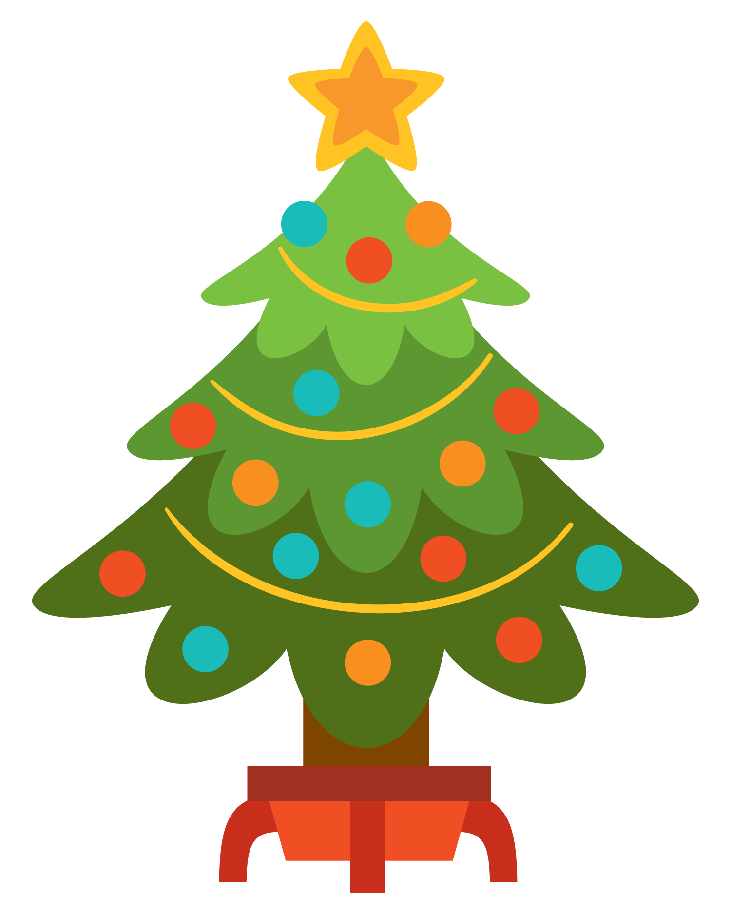 Christmas Tree clipart easy Cliparts Christmas Simple Art Tree