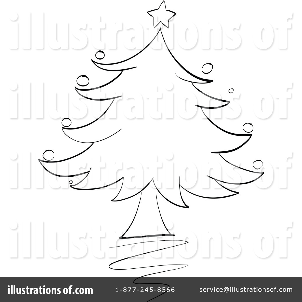 Christmas Tree clipart easy Illustration collection and black Christmas