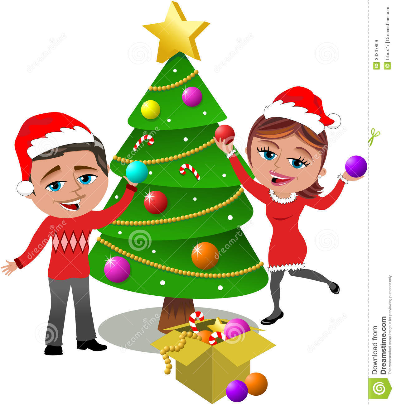 Christmas Tree clipart new year tree Tree · Decorated Clipart Decorated