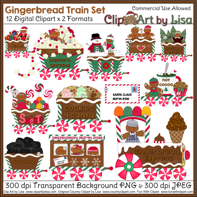 Country clipart garland Cocoa hot gingerbread Trees Trees
