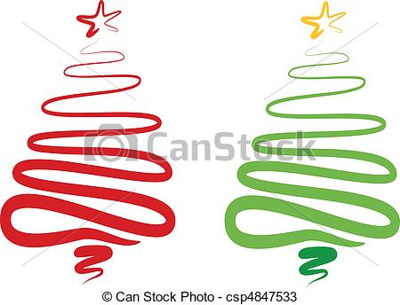 Christmas Tree clipart logo  red christmas abstract christmas