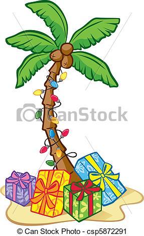 Tropical clipart christmas tree #4