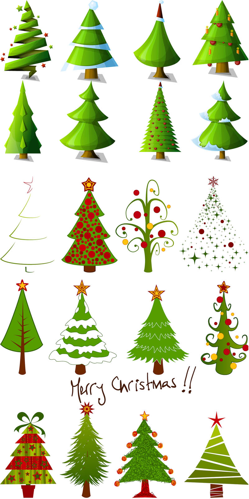 Christmas Tree clipart logo Cartoon Xmas styles designs tree