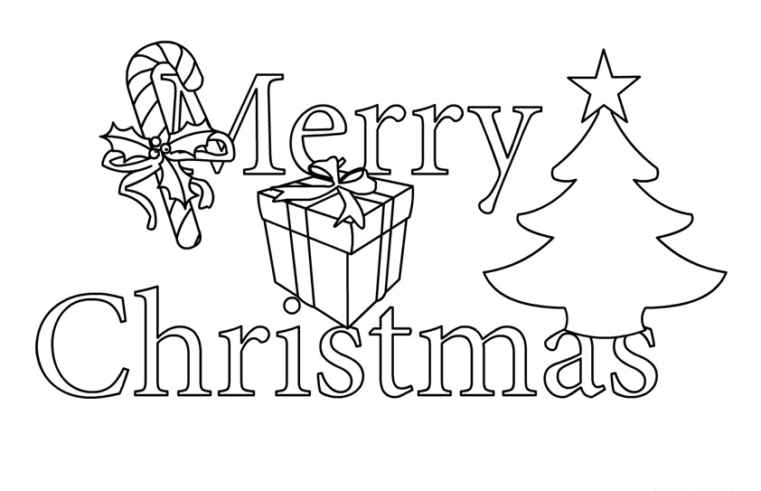 Merry Christmas clipart clip Art white black Free Clip