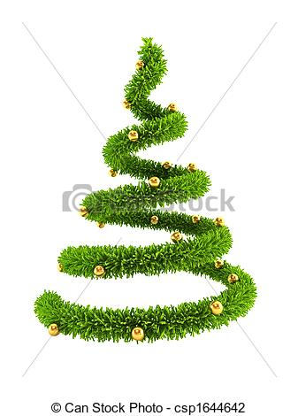 Christmas Tree clipart new year tree Tree symbolic csp1644642 3d New