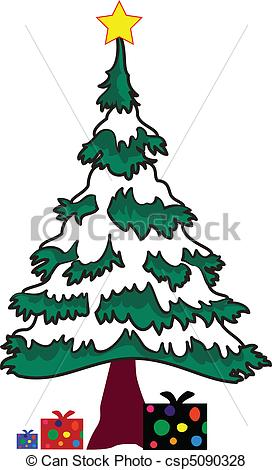 Christmas Tree clipart new year tree With new star new year