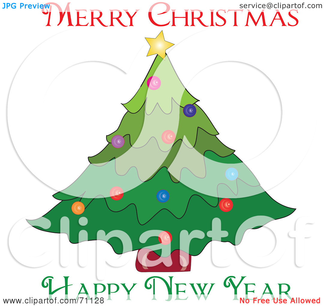 Christmas Tree clipart new year tree Happy Merry New (12) Christmas