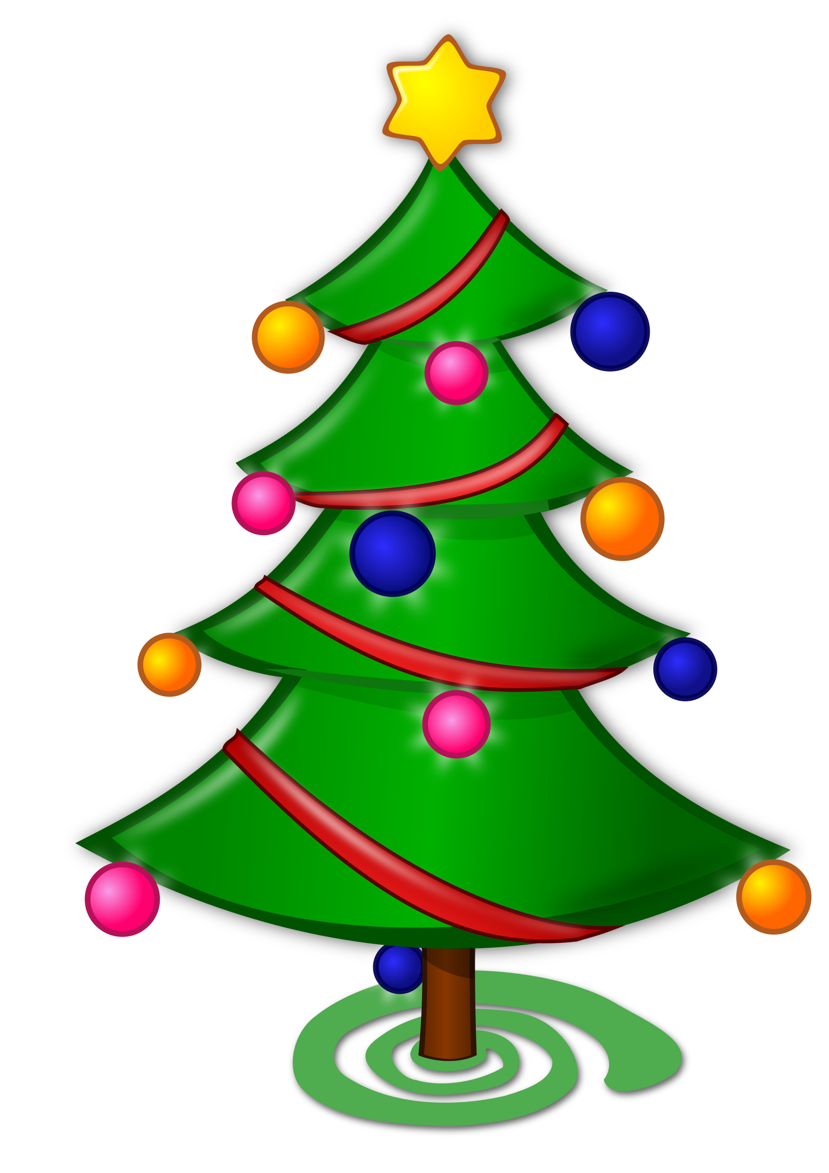 Christmas Tree clipart new year tree Christmas Colored: tree collection Christmas