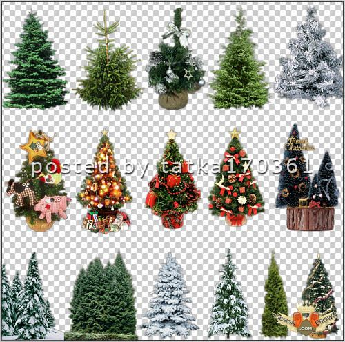 Christmas Tree clipart new year tree Raster year decorated clip trees