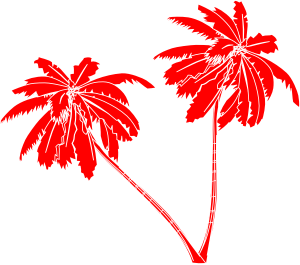 Christmas Tree clipart palm tree Vector at Art image Red