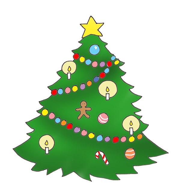 Christmas Tree clipart scene Christmas Scene  Clipart Tree