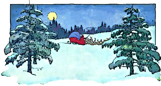 Christmas Tree clipart scene Christmas Domain Clipart clip art
