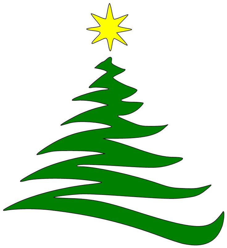Christmas Tree clipart squiggle Best Abstract on Tree CARDS
