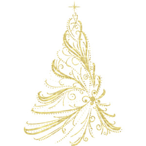 Christmas Tree clipart squiggle Polyvore Christmas Decorative Transparent Clipart