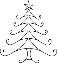 Christmas Tree clipart squiggle Art – Clip Tree White