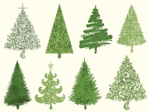 Christmas Tree clipart vintage Tree Art Tree Christmas 27