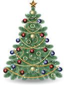 Christmas Tree clipart vintage · Art tree Christmas Christmas