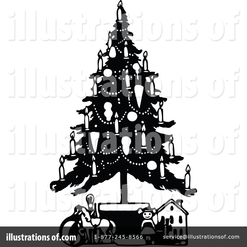 Christmas Tree clipart vintage (RF) Clipart Prawny Free Clipart