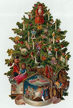 Christmas Tree clipart vintage Christmas Victorian Art  Clip