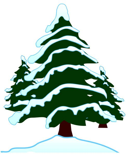 Pine clipart winter 10 Winter art Winter clip