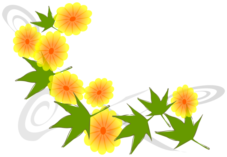 Yellow Flower clipart japanese Art Baskets Domain and Public