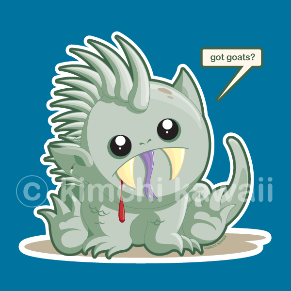 Chupacabra clipart cute #7