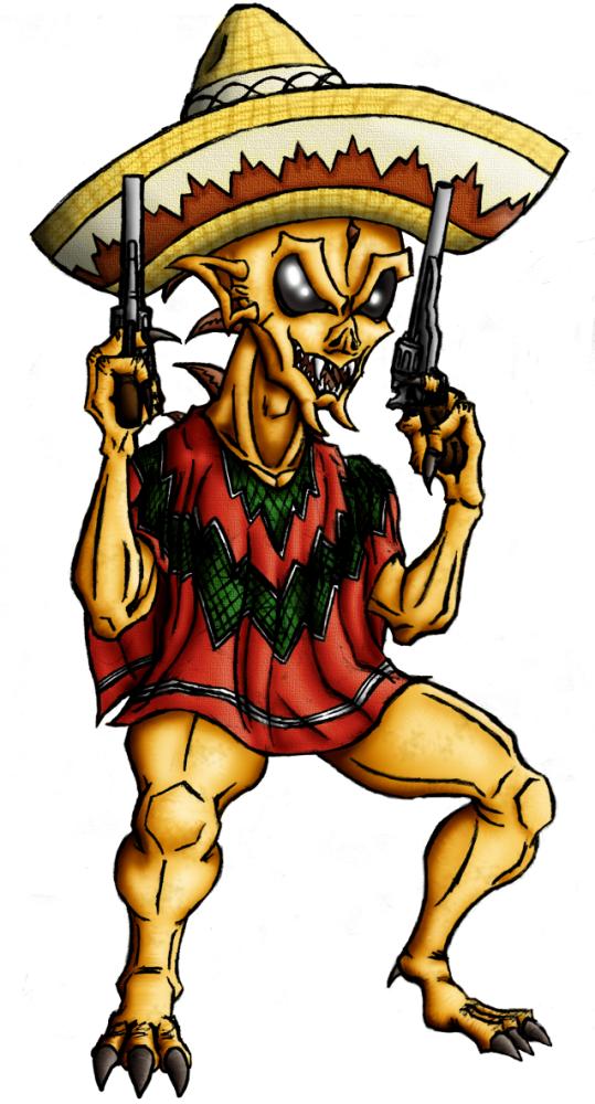 Chupacabra clipart drawing #9