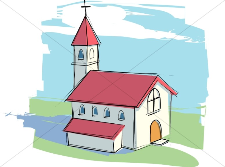 Church clipart Rural Graphics Church Church with