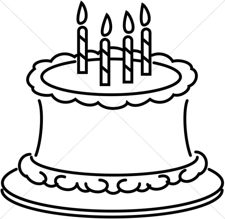 Cake clipart line art Graphics Birthday Birthday Sharefaith Church